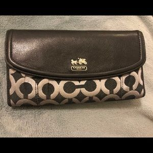 Coach Wallet with checkbook holder